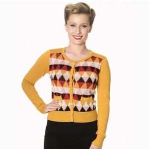 Dancing Days by Banned Sweaters - Dancing Days By Banned Diamonds Galore Pinup Cardi